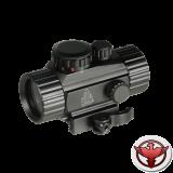 Коллиматор LEAPERS UTG 1х30 Compact, закрытый на Weaver, подсветка круг с точкой