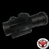 Коллиматор Target Optic 2х42 закрытого типа на Weaver, подсветка точка