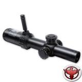 Прицел Bushnell AR Optics 1-4x24, 30мм., сетка BTR, c подсв. 11ур., красн., FFP, рычаг PCL, клик=0,1MIL., черный, 525гр.