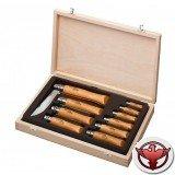 Набор ножей Opinel серии Tradition №02-12 - 10шт., углеродистая сталь, рукоять - бук, + деревянный футляр