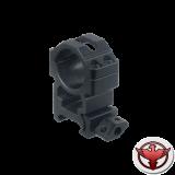 Кольца Leapers UTG 25,4 мм быстросъемные на Weaver с винтовым зажимом, высокие, 2 винта