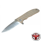 Нож Sanrenmu серии Athletic, лезвие 92 мм, рукоять бежевая G10, крепление на ремень