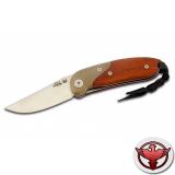 Нож LionSteel серии Mini лезвие 60 мм, рукоять - оливковое дерево, крепление на ремень