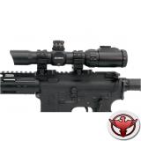 LEAPERS Accushot 1-8X28 30mm, подсв.36цв.,сетка Circle Dot выгр.,кольца
