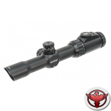 LEAPERS Accushot 1-8X28 30mm, подсв.36цв.,сетка Mil-dot выгр.,кольца