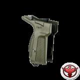 Рукоятка для пистолета Макарова (зеленая) для левши