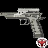 Пистолет пневматический Tanfoglio Gold Custom CO2 Blowback 4.5mm