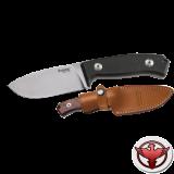 Нож LionSteel серии Hunting лезвие 90 мм фиксированное, рукоять - G10 черная, чехол из кордура