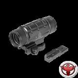Увеличитель для коллиматора UTG 3X с быстросъемным кронштейном на Picatinny и адаптером