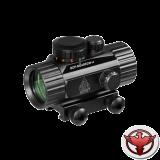 Коллиматор LEAPERS UTG New Gen 1x30 закрытый на Weaver, подсветка точка зелёная/красная